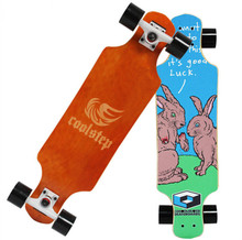 74L-19 Free Shipping KOSTON pro dancing style longboard completes with canadian maple mixed ,46inch long skateboard set