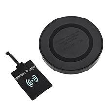 2in1 Wireless Charging Adapter Receiver + Q5 Wireless Charger Phone Mount Charging Sender Pad for Samsung Nokia etc.Smartphones