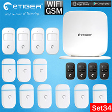 Home Design Etiger Secual Box V2 Smart Home 433mhz WIFI GSM Burglar Alarm System+Automation Protection Built-in 95db Siren(China)