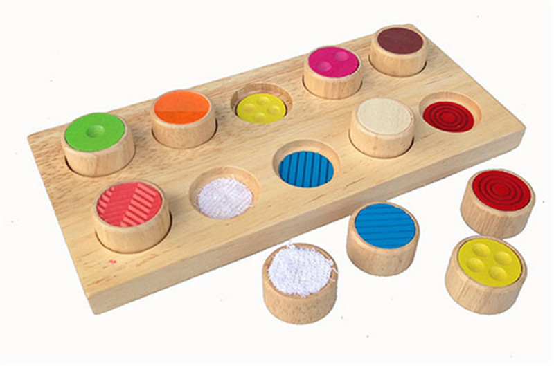 New Wooden Baby Toy Montessori Memory Touch Flap Baby Educational Toy Baby Gifts<br>
