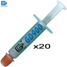 GD900 Thermal Grease Paste Silicone Plaster Heat Sink Compound 20 Pieces High Performance Net Weight 1 Gram For CPU Cooler SSY1(China)