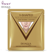 brand sheet mask face care facial chin V shaped lifting collagen face masks cosmetic firming whitening bioaqua beauty mask face(China)