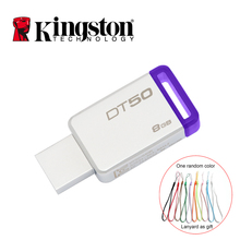 Kingston USB 3.0 Pendrive 128GB 32GB USB Flash Drive USB 3.1 Memoria Metal Pen Drive Memory Stick cle usb 8gb Pendrive U Disk(China)