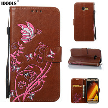 For Samsung Galaxy A3 2017 Case Quality Picks Luxury PU Leather Flip Cover 4.7 inch Wallet Cases For Samsung Galaxy A3 2017 A320(China)