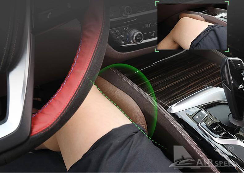 Leather Leg Cushion Knee Pad Thigh Support Pillow Interior Car Accessories for BMW E46 E39 E60 E90 E36 F30 F10 X5 Z4 7 (1)