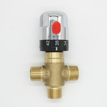 Brass Thermostatic Mixing Bath Tub Valve Pipe Thermostat Valve Control Chrome(China)
