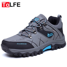 Plus size 39-47 Winter Waterproof Hiking Shoes Men Athletic Sports Leather Sneakers Outdoor Trekking Hunting Hiking Shoes Boots