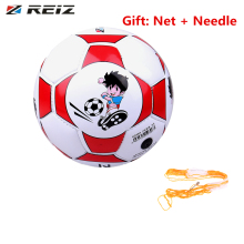 REIZ Official Size 2 Standard PU Leather Soccer Ball Training Football Indoor Outdoor With Free Net Needle For Children Students(China)