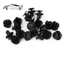20 Pcs/lot Car Auto clip 8mm Hole Nylon Trim Boot Rivet Push Clips Black for suv truck bus Discount 50 Clips(China)