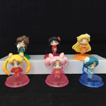 Sailor Moon 6pcs/set Mini Action Figures Kimono Ver. Hino Rei Kino Makoto PVC figure Toys Brinquedos Anime 5CM(China)