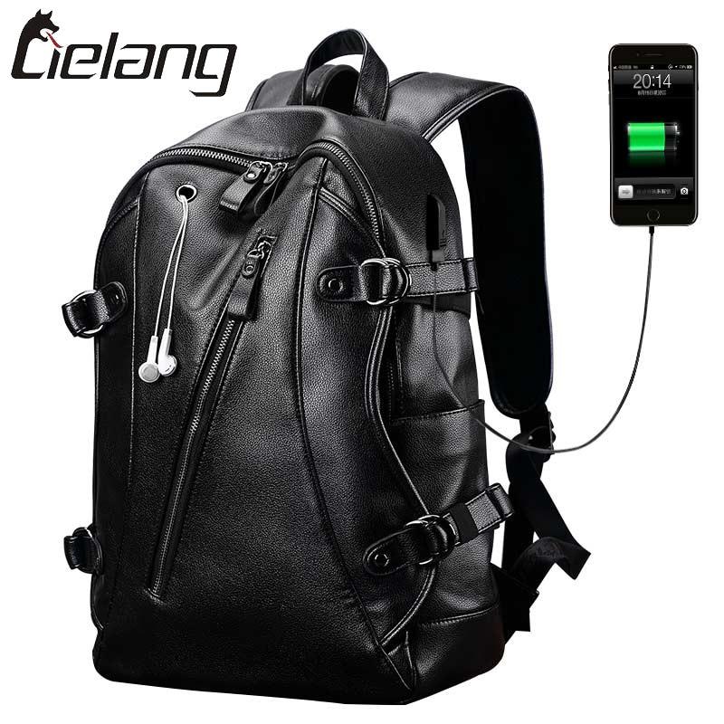 LIELANG Brand Backpack Men External USB Charge Mens Anti-Theft Computer Bag 15.6 Inch Waterproof Laptop Backpacks New 2017<br>