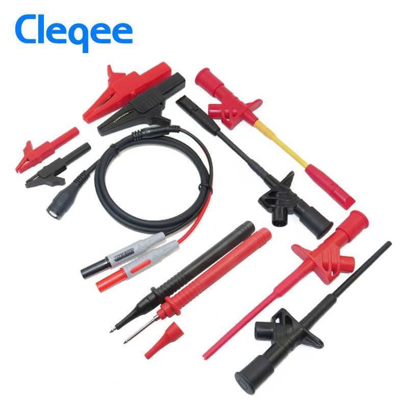 Cleqee P1800D 11-in-1 BNC Electronic Specialties Test Lead kit Automotive Test Probe Kit Universal Multimeter probe leads kit<br>