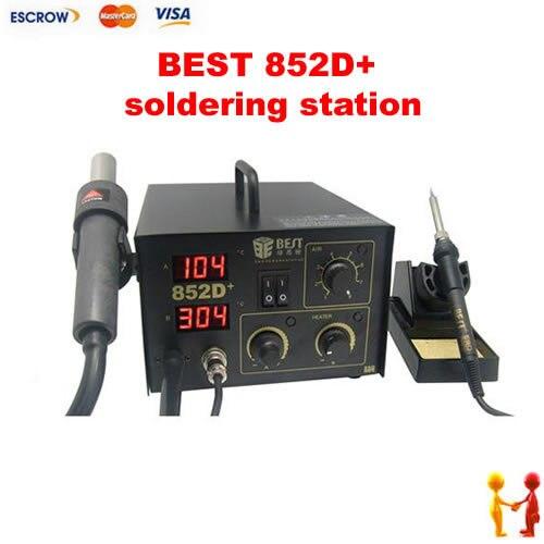 BEST 852D+ LED Digital Display 2 in 1 Lead-Free BGA Welder With Hot Air Gun, BEST 852D+ soldering station<br><br>Aliexpress