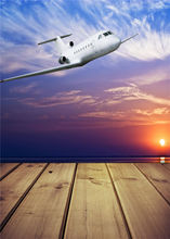 Airplane Photo Props Backdrops for Baby Wooden Floor Photography Background Children Vinyl 5x7ft or 3x5ft JieQX466