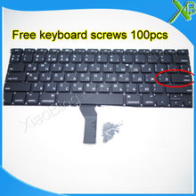 "Brand New Small Enter RS Russian keyboard+100pcs keyboard screws For MacBook Air 13.3"" A1369 A1466 2010-2015 Years(China)"