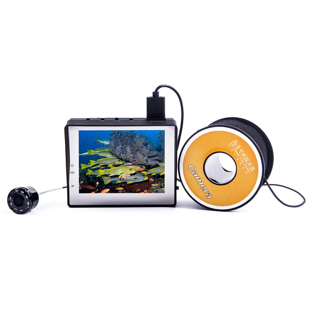 30m Professional Fish Finder Underwater Fishing Video Camera Monitor Fishing Cam AntiSunshine Infrared 8pcs IR LEDs ISP<br><br>Aliexpress