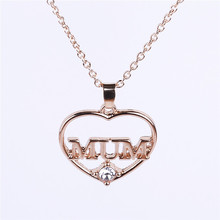 2016 Hot Sale Mum Jewelry Love Maxi Necklace Collares Collier Mother's Fashion Magazine Loving Choker Hollow Out Link Chain