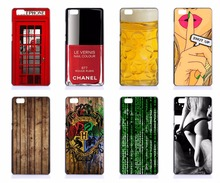 Phone Case Cover For Huawei G9 Lite P8 Lite P9 Lite P9 Plus P7 Hard Shell TELEPHONE Booth HOGWARTS Wood Design PC Hard Covers
