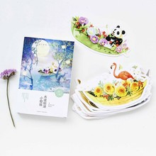 30 pcs/lot Small animals and flowers boats heteromorphism postcard greeting card christmas & birthday message card gift cards(China)