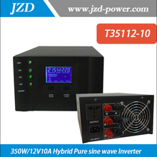 350W/12V10A Hybrid Pure sine wave Inverter with Solar Charger Controller Use in Solar power System
