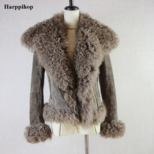 Buy Harppihop Women Real Sheep Fur Coat Winter Warm Fashion Genuine Merino Sheepskin Leather Jacket Natural Real leather Coat for $410.00 in AliExpress store
