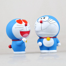 Random Action Figure 10cm Love Doraemon The Robot Spirits PVC cat Model Anime Cartoon Brinquedos Toys Model Anime(China)