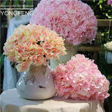 5pcs/lot Decorative Flower For Wedding Party Artificial Hydrangea Silk DIY flower Decoration For Home Artificial Plant 003(China)