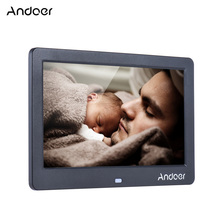 "Andoer 10"" LED Digital Picture Frame 1024*600 Electronic Photo Frame with Remote Control Clock Calendar MP3 MP4 Movie Player(China)"