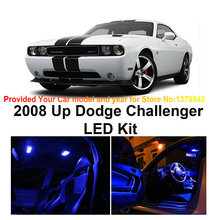 Free Shipping 4pc LED Lights car-styling Hi-Q Interior Package Kit For Dodge Challenger 2008 & Up