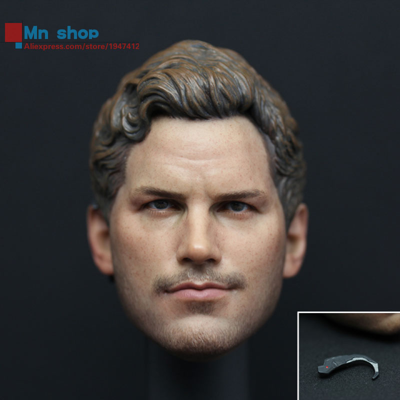 1/6 Head Sculpt Male Figure Doll Guardians of the Galaxy Star-Lord Head Carving 1/6 Action Figure Acccessories Juguete Toys Gift<br>