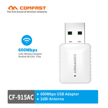 USB AC wifi adaptor CF-915AC 5.8G 600M access point soft AP router 802.11ac USB wi-fi dongle COMFAST Wi-fi emmiter/wifi receiver(China)