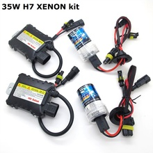 Xenon HID Ballast headlight kit 12V 35W H7 3000K 4300K 5000K 6000K 8000K 10000K 12000K Green Purple Pink Auto headlight lamp