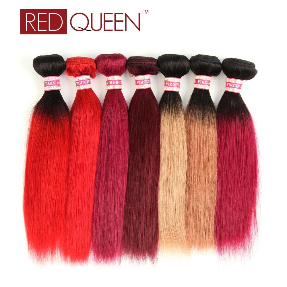 Brazilian Virgin Hair Ombre 3 Bundles Ombre Human Hair Extensions 99J,118,Red,t1b/Red,t1b/27,t1b/30,t1b/118,Burgundy<br><br>Aliexpress