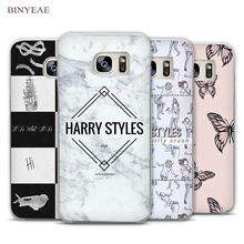 BINYEAE Harry One Direction Tattoos Transparent Phone Case Cover for Samsung Galaxy S3 S4 S5 S6 S7 S8 Edge Plus Mini(China)