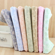 New 40*50CM 7PCS Retro Rose Printed Cotton Fabric Telas Bundle DIY Patchwork Sewing Baby Toy Material Quilting Bedding Tecido(China)