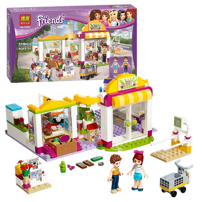 High Quality BELA 10494 Friends City Supermarket Building Blocks Set Mia Daniel Bricks Toys Compatible with 41118<br><br>Aliexpress