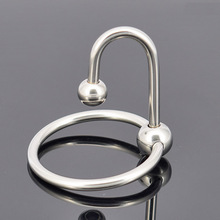 Buy Chastity Locks stainless steel metal penis cock ring delay time erection Penile lock Virgin lock