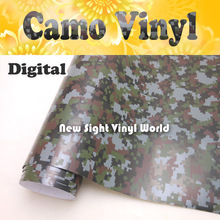 Digital Camo Vinyl Roll Digital Camouflage Vinyl Wrap Air Bubble Free For Vehicle Motorcycle Size:1.52 x 30m/Roll(5ft x 98ft)