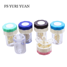 FS YURI YUAN Manually Contact Lens Washer Cleaner Cleaning Lenses Case Cleaning Contact Lens Case Container Eyewear Accessories(China)