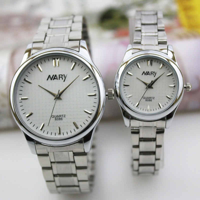 2016 Nary Luxury Brand St Steel Men Women Wristwatch Waterproof Quartz Watch Couples Watches Relogio Masculino Feminino Reloj<br><br>Aliexpress