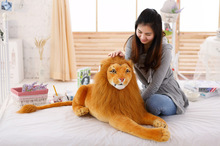 stuffed toy , large 75cm lying lion plush toy simulation lion , birthday gift d8069