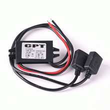 DC/DC Converter 12V to 5V 3A 15W Dual USB Step Down Power Adapter Supply Module for Car Power Regulator Voltage Step Down(China)