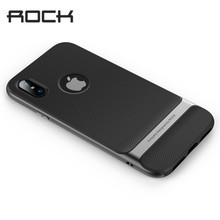 Rock Royce Case for iphone X Anti-knock Case Ultra Thin Slim Armor Cover Shell Hard PC+Soft TPU Back Cover for iphoneX(China)