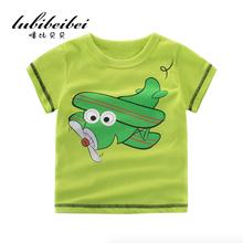 New 2017 boy's t shirt popular cartoon pattern cotton short-sleeved t-shirt printing children's cartoon  kids boys clothes