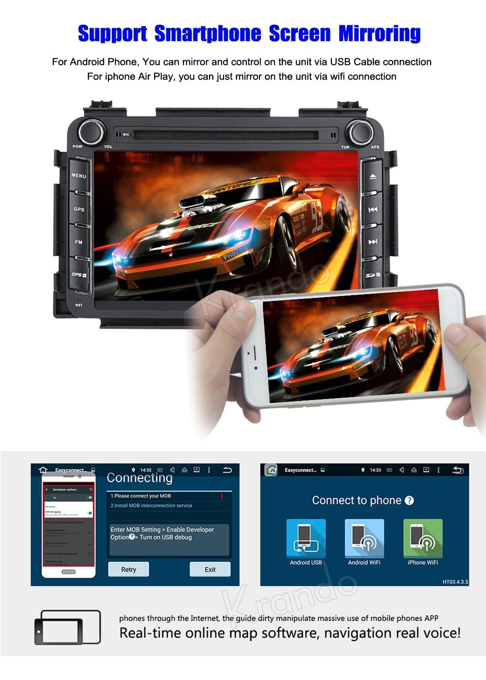 Krando honda vezel HR-V 2013+ android car radio gps navigation system multimedia player (4)