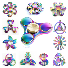 Buy New Rainbow Hand Fidget Spinner Finger EDC Hand Spinner Tri Kids Autism ADHD Anxiety Stress Relief Focus Handspinner Toys for $3.99 in AliExpress store