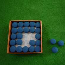 50pcs 9mm/10mm/11mm/12mm/13mm Laminated  Blue Color Pool Snooker Table Cue Tips