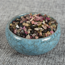 Extra 10 Gram Free Natural Crystal Healing Reiki Tourmaline Chip Stone Gemstone Tumbled Stone Fountain Home Garden Mineral Decor