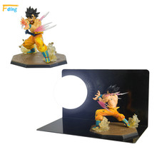 one Dragon Ball Z Toys Son Gokou Triple Kaiouken Kamehameha Display Light DIY Dragonball Z Goku DBZ Base Bulb lighting toys gift