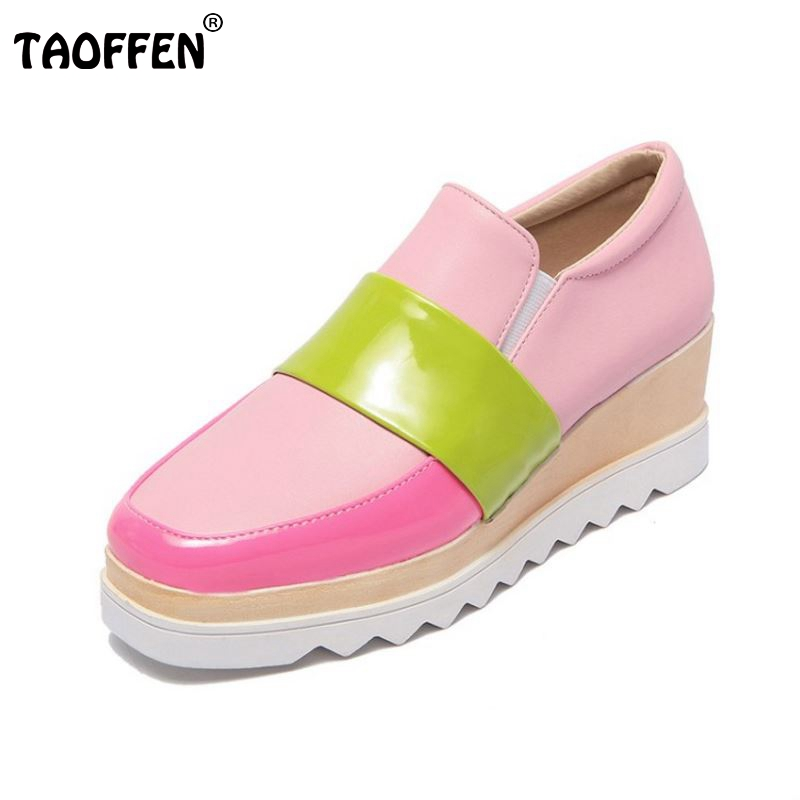 Women Wedge Shoes Fashion Mix Color Ladies Casual Shoes Woman High Platform Pumps High Quality Brand Footwear Size 32-43<br><br>Aliexpress